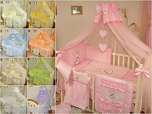 Image is loading LUXURY-HUGE-BABY-BEDDING-SET-TO-FIT-BABY- & LUXURY HUGE BABY BEDDING SET TO FIT BABY COT or COT BED/ COTBED ...