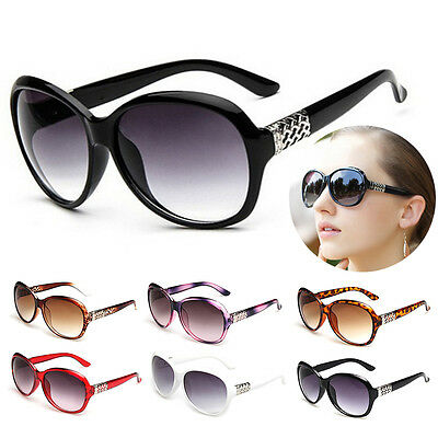 Vintage Designer Oversized Sunglasses Womens Retro Shades Glasses Eyewear New