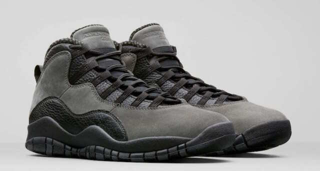 factory price a7610 b0029 Air Jordan 10 Retro Dark Shadow Black Gray Shoes Size 11 Mens 310805 002