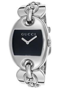 e66f67ee5044 Gucci YA121313 Marina Black Dial 121.3 Series Silver Tone Women s ...