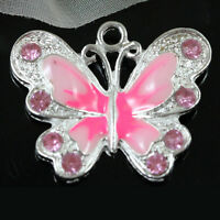 5/20/50X Colorful Enamel Animal Butterfly Pendant Charms 22*20mm Jewelry Making