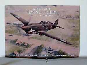 Flying-Tigers-Stuff-of-Legends-AVG-P-40-Robert-Taylor-Aviation-Art-Brochure