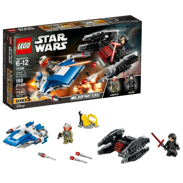 LEGO Star Wars: The Last Jedi A-Wing vs. TIE Silencer Microfighters 75196 Bui...