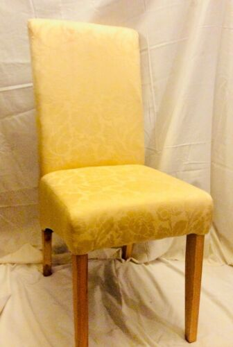 Bedroom Chair Boudoir Chair Dining Chair Light Gold Damask