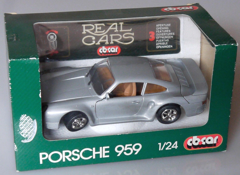 PRL  PORSCHE 959 CB.CAR VINTAGE RARITà RAR RARO 1:24 METAL DIE CAST ANNI  '80