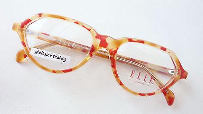 Accurato Occhiali Designer Sostituito Dall'elle Rarità Arancione Rosso Donna Lusso Moda Size L-mostra Il Titolo Originale Sapore Aromatico