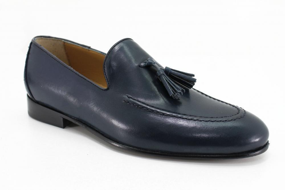 Zapatos por hombre Artisan Antica Sartoria Napoletana Art. A103/ALN clásico azul