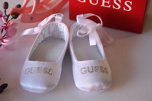 BNIB-Genuine-Guess-Baby-Girls-Ballerina-Shoes-Pink-White-Size-0-3