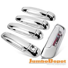 Chrome Door Handle + Tailgate Cover Fit 02-08 DODGE Ram 1500/03-09 Ram 2500 3500