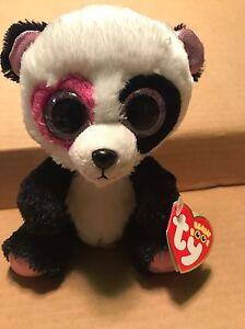"fe7a3b6045a Ty MANDY -Black White Pink Valentine s Panda Bear 6"" Beanie Boo ..."
