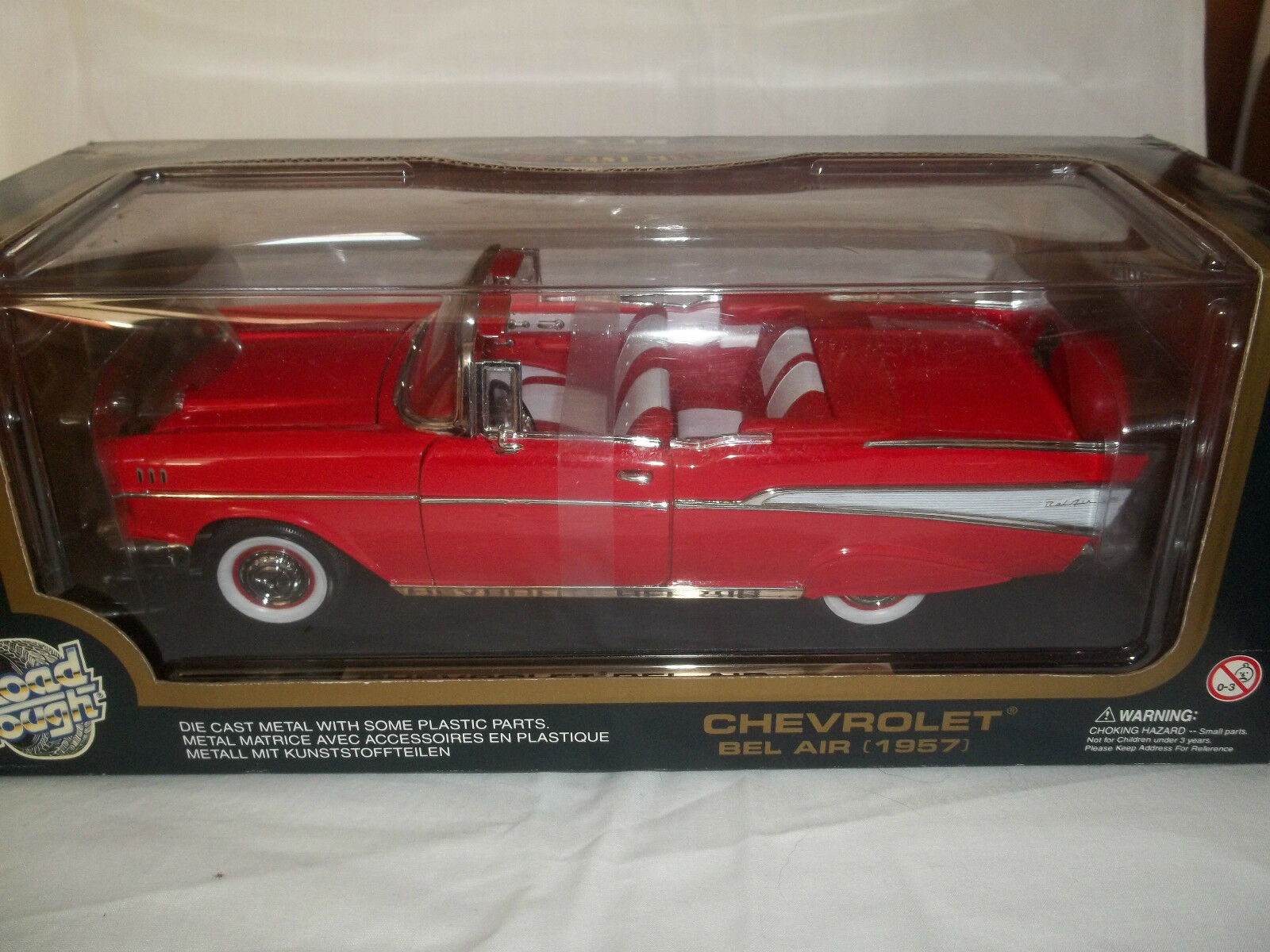 Road Tough 92108 Chevrolet Bel Air rot 1957 1 18 Mint & Boxed