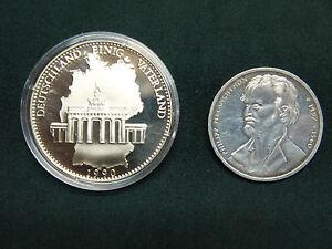 """Medaillen 2 ält Münzen:/""""deutschl.einig Vaterland"""" & 10.-dm Philipp Melanchthon Starker Widerstand Gegen Hitze Und Starkes Tragen"""