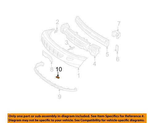 Chevrolet GM OEM 2002 Cavalier FRONT BUMPER-Lower Extension Retainer 22688427