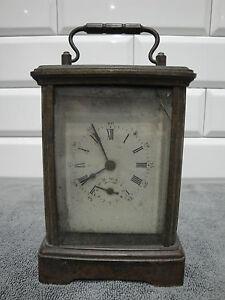 Bien éDuqué Pendule Réveil Officier Faisant Carillon Xixème 19th Avec Sa Clef Clock Pourtant Pas Vulgaire