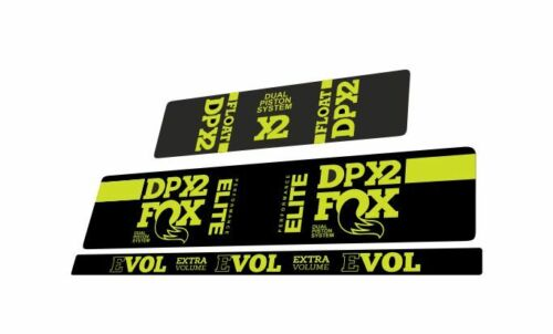 FOX Float DPX2 Elite Performance Rear Shock Suspension Sticker Decal Lime Green