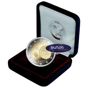 Piece-2-euros-BELGIQUE-2018-ESRO-Premier-Satellite-Europeen-Belle-Epreuve
