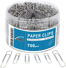 700 Paper Clipsmedium And Jumbo Sizepaperclips For Office School And Personal