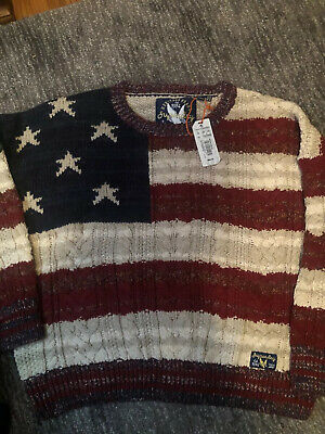 superdry sweater womens American cable knit XLbrand new with