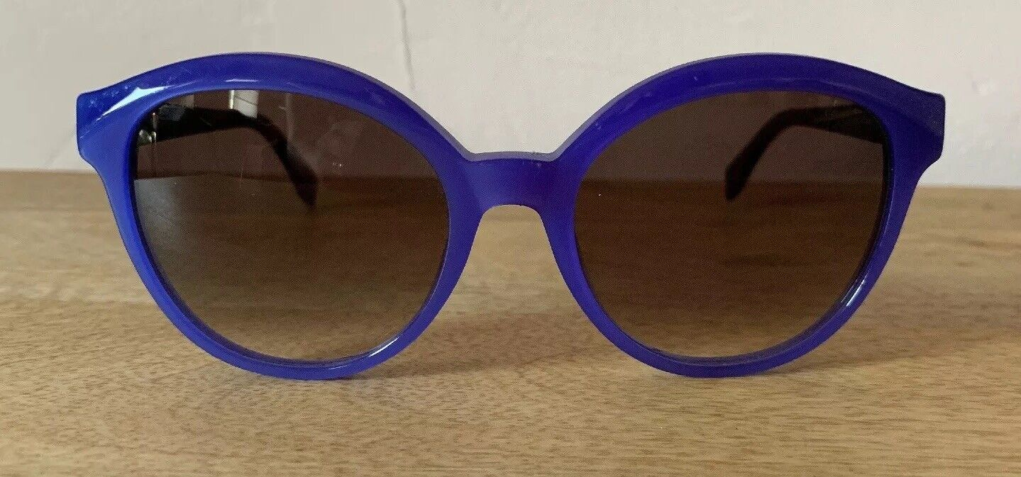 Fendi Womens Purple And Tortis Sunglasses Made In Italy