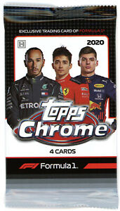 2020 Topps Chrome Formula 1 F1 Racing 1 Pack Hobby - 4 Cards per Pack