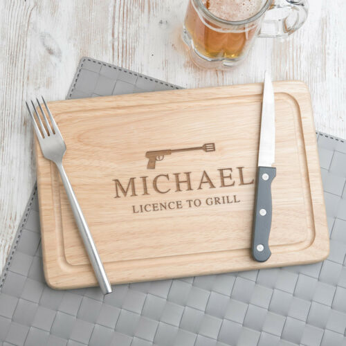 Funny Novelty Christmas Gifts for Men Him Dad Personalised Wooden Chopping Board