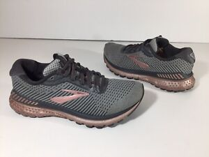 Brooks-Adrenaline-GTS-20-Women-039-s-Running-Shoes-Grey-Rose-Pink-Gold-Size-7-5B