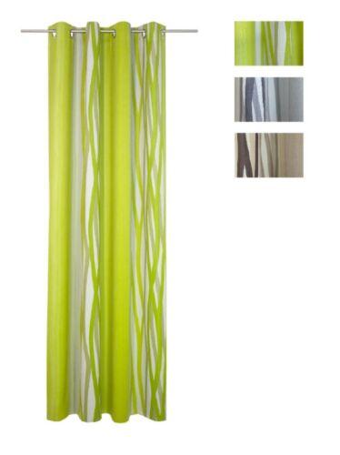 Verdunklung Seitenschal Fertiggardine Ösenschal Brooklyn Farbdruck grau 5 Größen