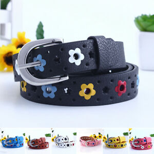For Baby Kids Boys Girls PU Leather Waist Belt Waistband Dress Buckle Adjustable