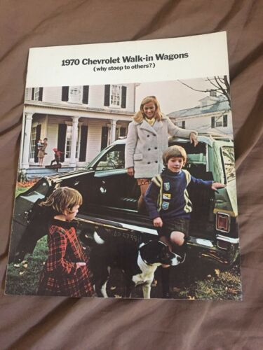 1970 Chevy Chevrolet Caprice Impala Chevelle Wagons Brochure Catalog Prospekt