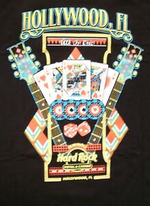 HARD ROCK HOTEL HOLLYWOOD FL BLACK CITY TEE T-SHIRT SIZE ADULT XX-LARGE NEW TAGS