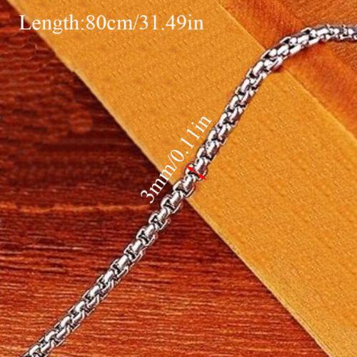 50-80cm Link Choker Halskette Klassisch Edelstahl Halskette Schmuck Viele