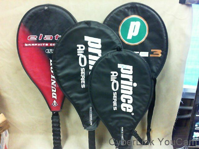 4 Racquets-Dunlop Elate   Prince Rebel 21   Prince Rebel 25   Prince Force 3