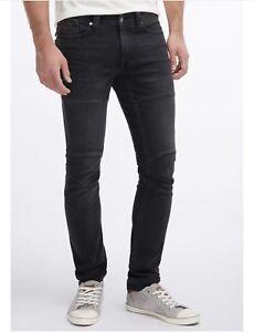 Mutig Mustang Herren Skinny Jeans Stretch Hose Denim Rinsed Black Gr Herrenmode W32/l32 Neu 100% Original