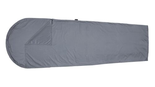 Sky blue Easy camp travel sheet sleeping bag liner in mummy style