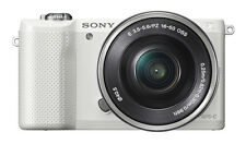 Sony Alpha A5000 White Mirrorless Digital Camera with 16-50mm Lens Kit NEW