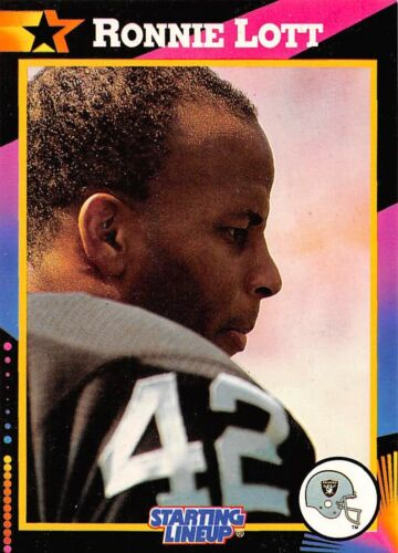 SAN FRANCISCO 49ERS 1992  RONNIE LOTT Kenner Starting Lineup Card