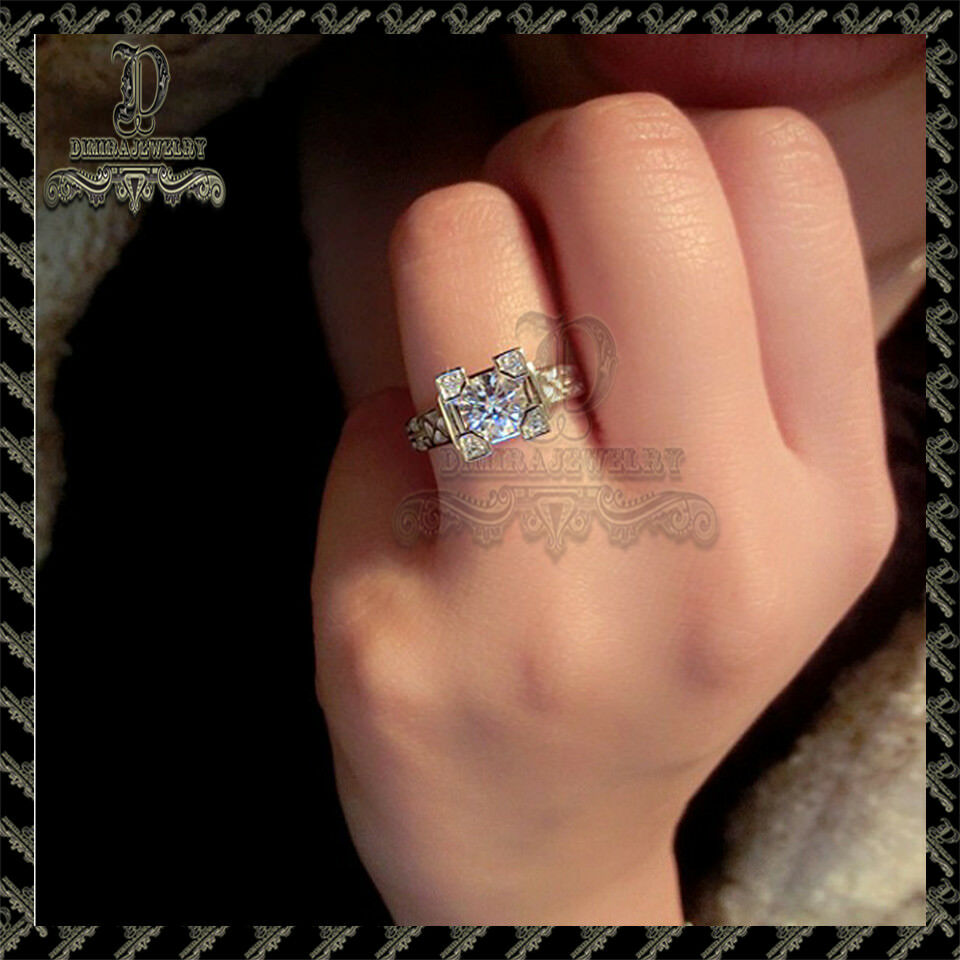 1.50ct Round-Cut Diamond Solitaire Engagement Ring 10k pink gold