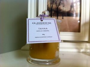 NEW-Glasshouse-Tahaa-Vanilla-amp-Caramel-Triple-Scented-mini-60g-Candle-Handmade