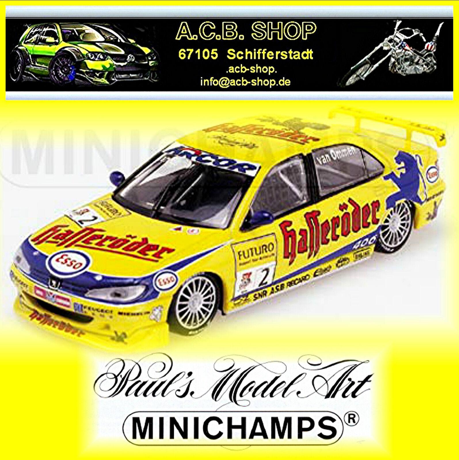 Peugeot 406 Stw 1998 J. V. V. Ommen #2 Team Peugeot Hasseröder 1:43 Minichamps