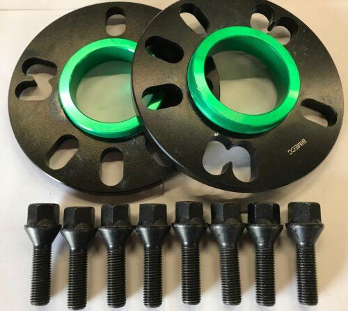 Espaciadores Rueda Aleación Negro 10 mm 73.1-56.1 M14X1.25 Negro Pernos Mini R55 R56 4X100