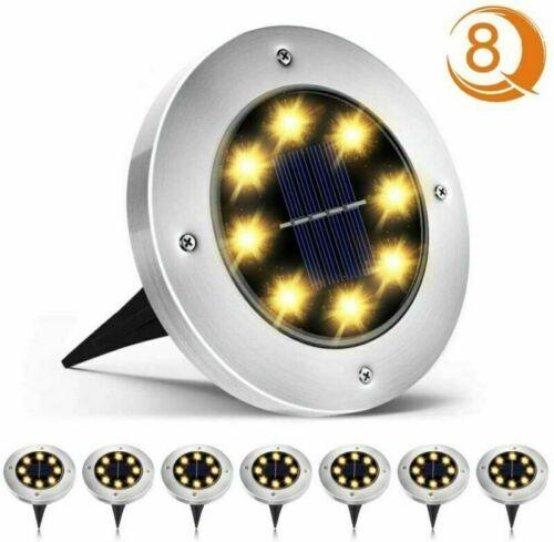8Pcs-set Solar Gartenleuchte Bodenleuchten Garten 8 LED Solarleuchten Solarlampe
