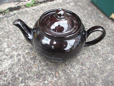 Ambitious Lovely Vintage Old Antique Black 1920s/30s Tea Pot Pottery, Porcelain & Glass Pottery