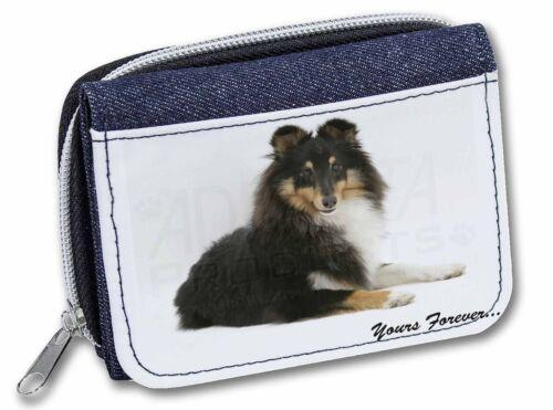 Shetland Sheepdog /'Yours Forever/' Girls//Ladies Denim Purse Wallet Chr AD-SE40JW