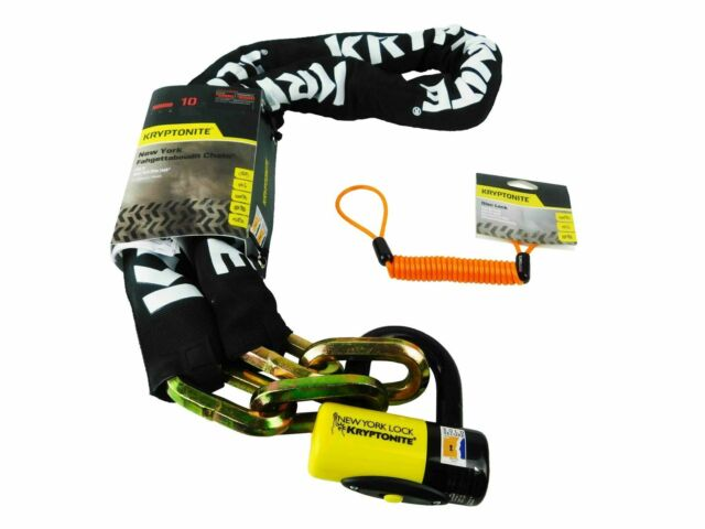 Kryptonite New York Fahgettaboudit Chain 14mmX150cm And NY Disc Lock 15