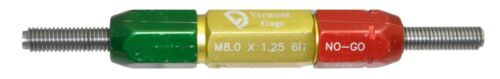 8mm Go No//Go 1.25 Lead M8 x 1.25-6H Thread Plug Gage Vermont Gage