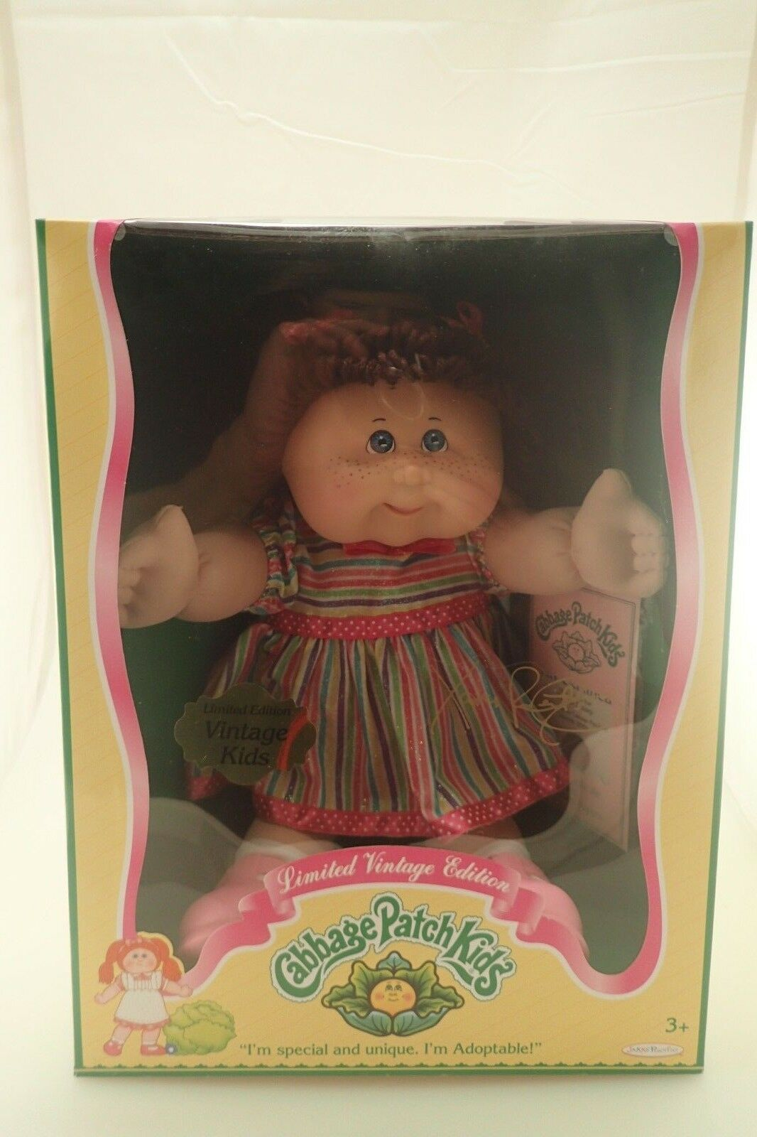 Nuevo en caja de edición limitada Cabbage Patch Kids Vintage Niños nacidos marzo 29th Regalo Gratis