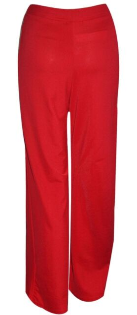 New Womens Ladies Plain Palazzo Wide Leg Flared Ladies Trousers Pants 8-14
