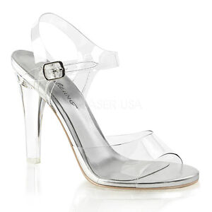 Clear-Pageant-Bikini-Fitness-Competition-Ankle-Strap-Heels-Shoes-size-6-7-8-9-10