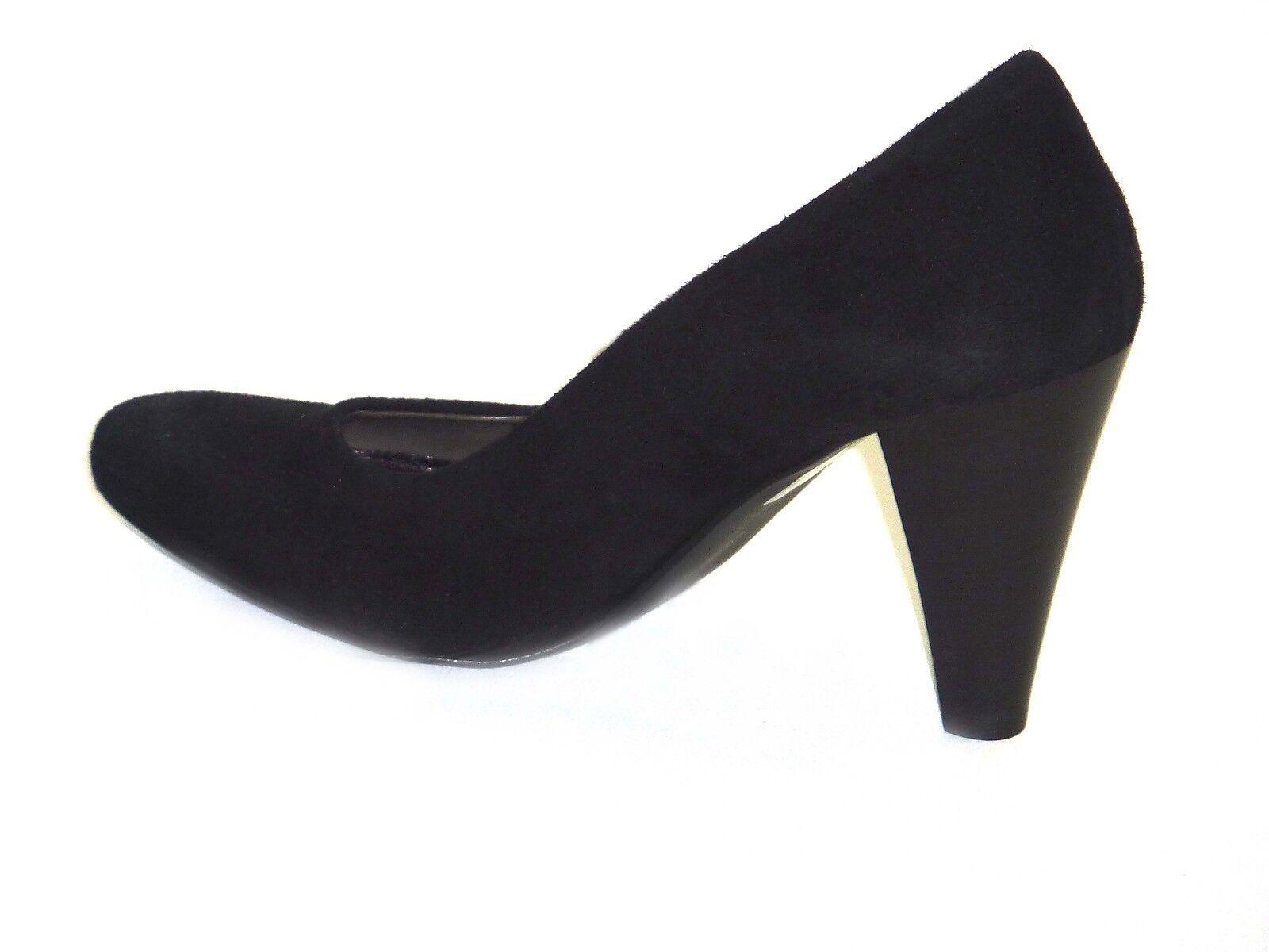 25007 Schuhe Damens 36 DECOLLETTE' CAMOSIO NERO TACCHI ALTI 36 Damens b93a2a