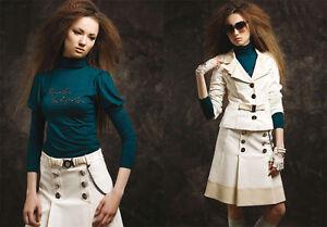 Maglietta Turtleneck da Wera Ladies palloncino Pullover a Tara manica Benzina Top donna wq46tEWxA